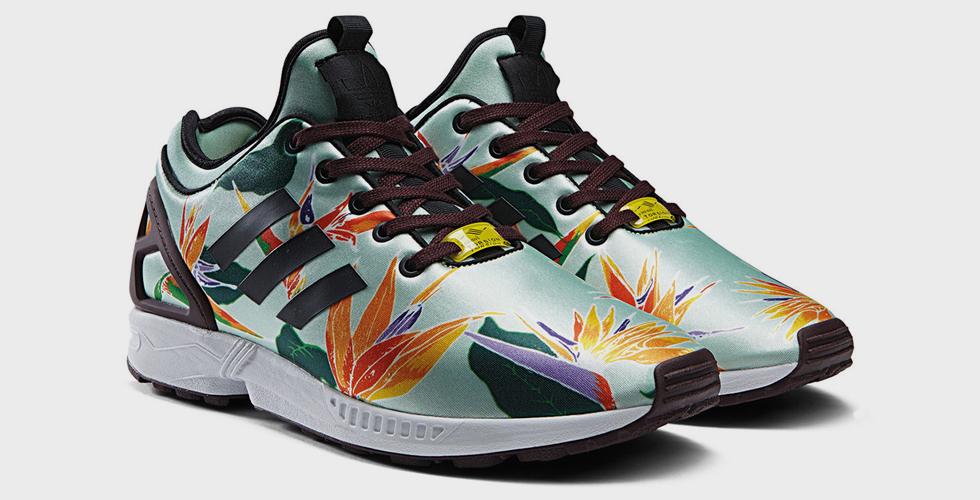 حذاء Adidas Original الجديد مزين بطيور الجنة