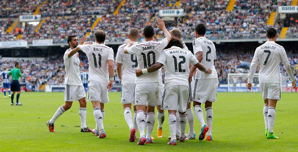 فريق ريال مدريد يفوز بأربعة أهداف