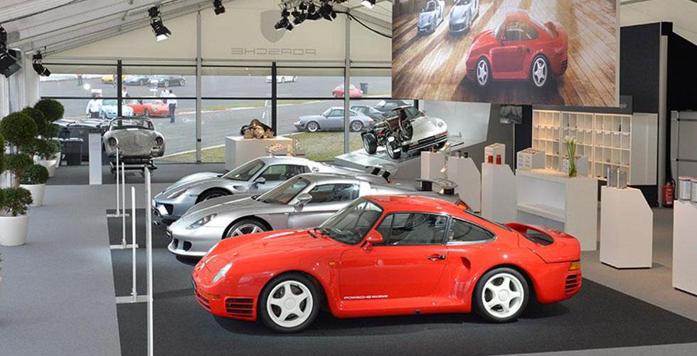 معرض لسيّارات بورش في عيد ال 959 ال 30