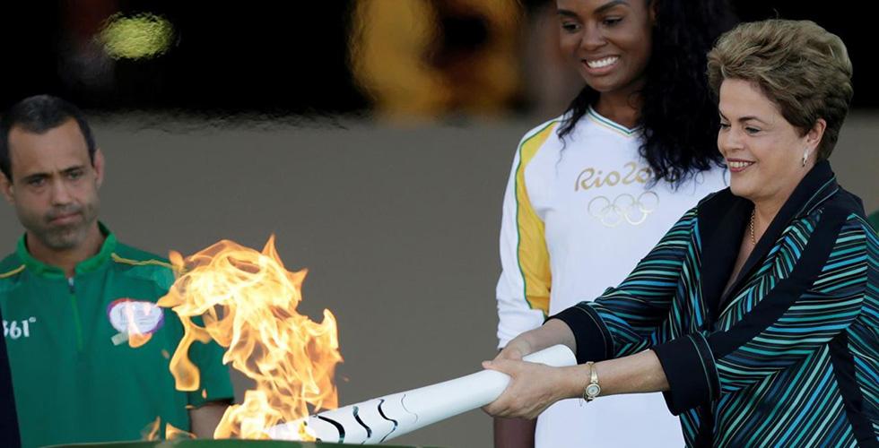 الشعلة الاولمبية الصيفية في البرازيل