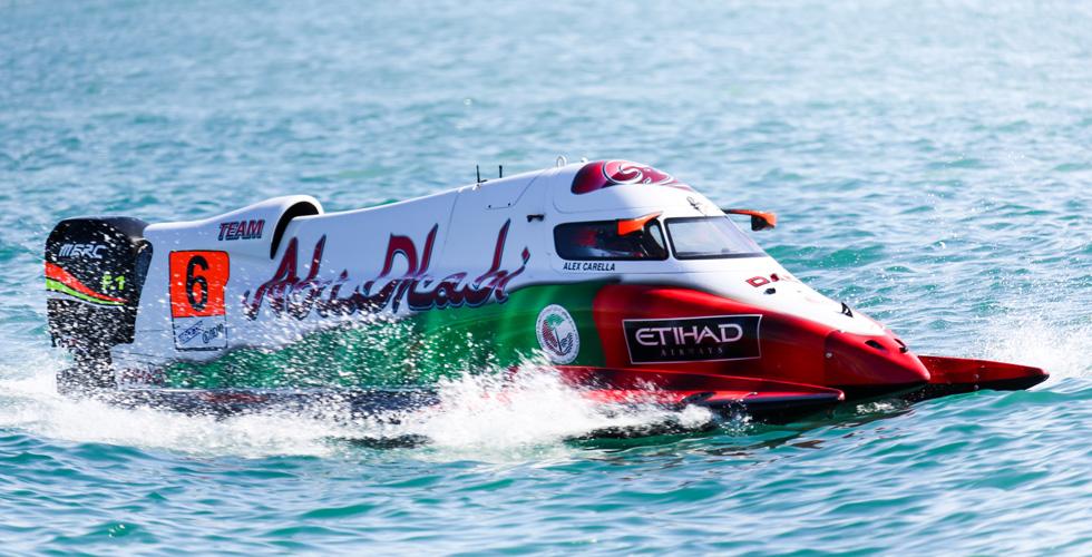 أبوظبي بطلة العالم لفورمولا١ الزوارق