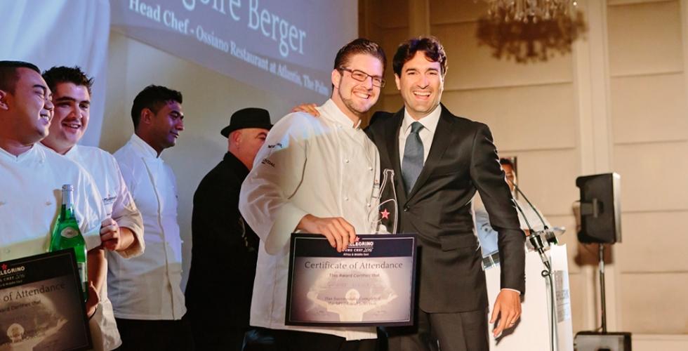 Grégoire Berger وجائزة الطهي