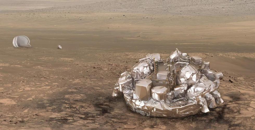 الاوروبيون يلمسون اليوم المريخ