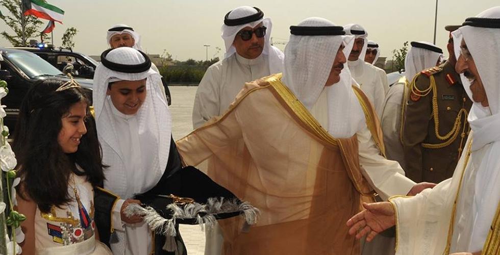 دار الاوبرا الكويتية بشكل مجوهرات