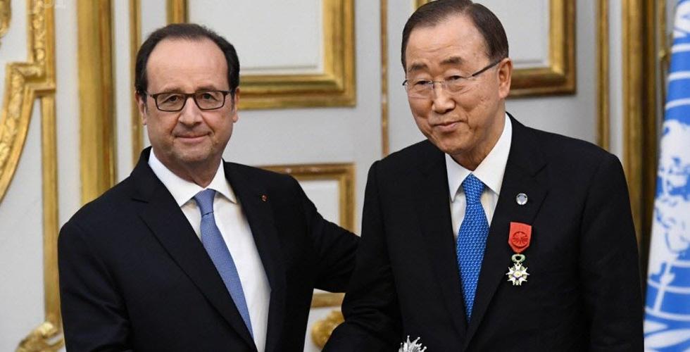 وسام فرنسي رفيع لبان كي مون