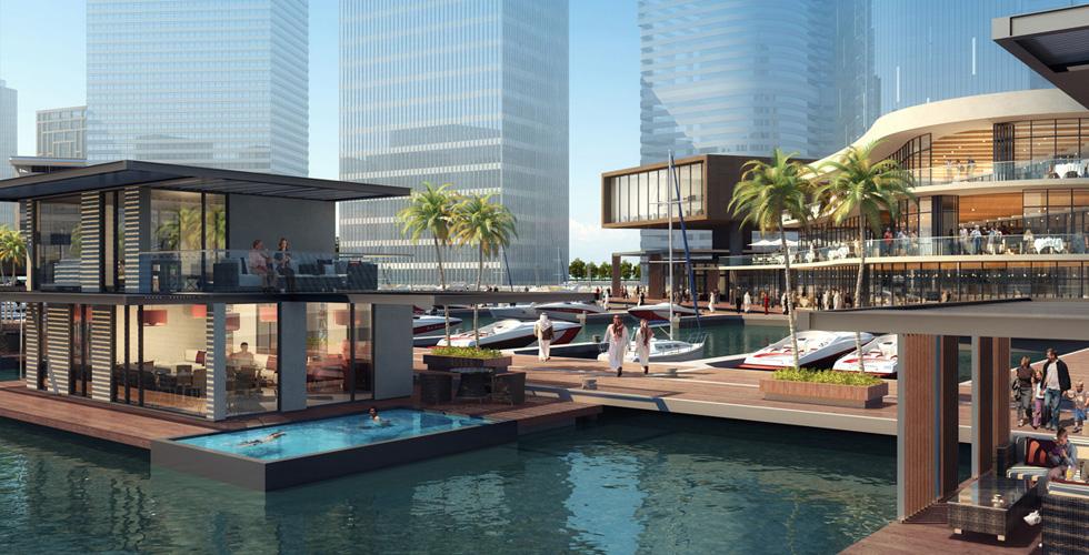 دبي تطلق مشروع المنازل العائمة