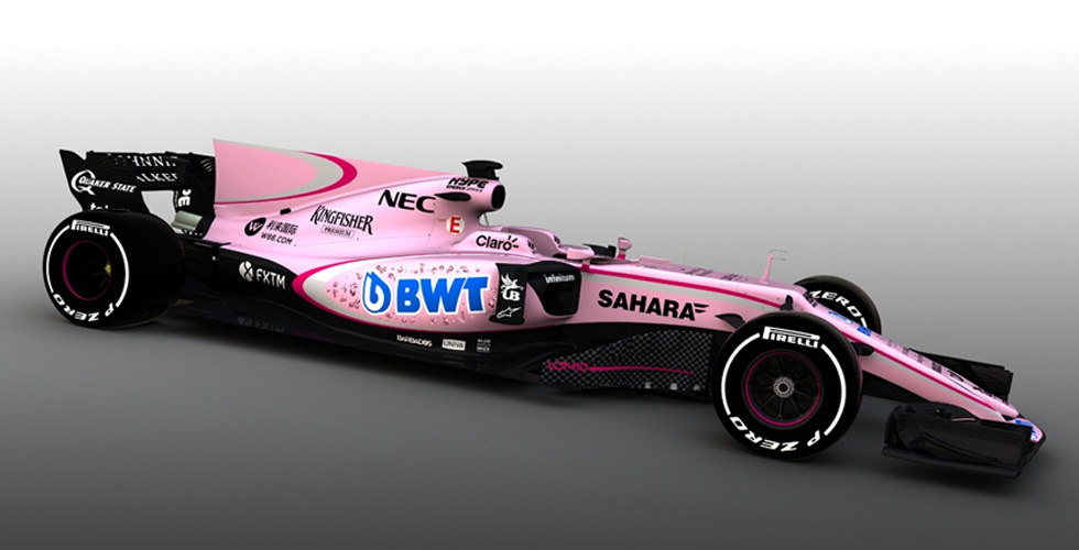 Force India والسيارة الزهرية الجديدة