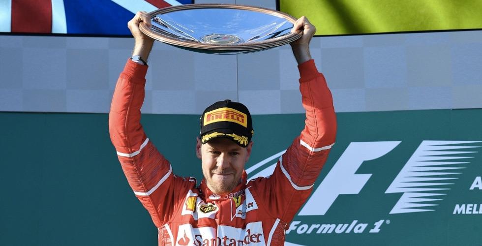 فيتل سائق فيراري يفوز بفورمولا استراليا