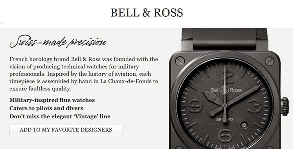 Bell & Ross يجتاح الانترنت
