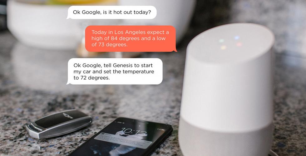 التّحكّم بسيّارات جينسيس عبر مساعد غوغل الصّوتيّ