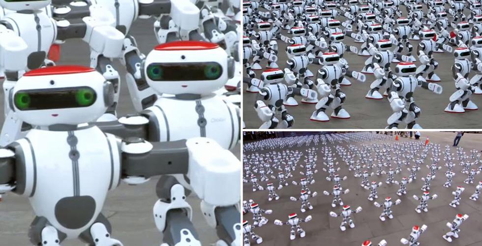 رقمٌ قياسيٌّ جديدٌ لروبوتات راقصة