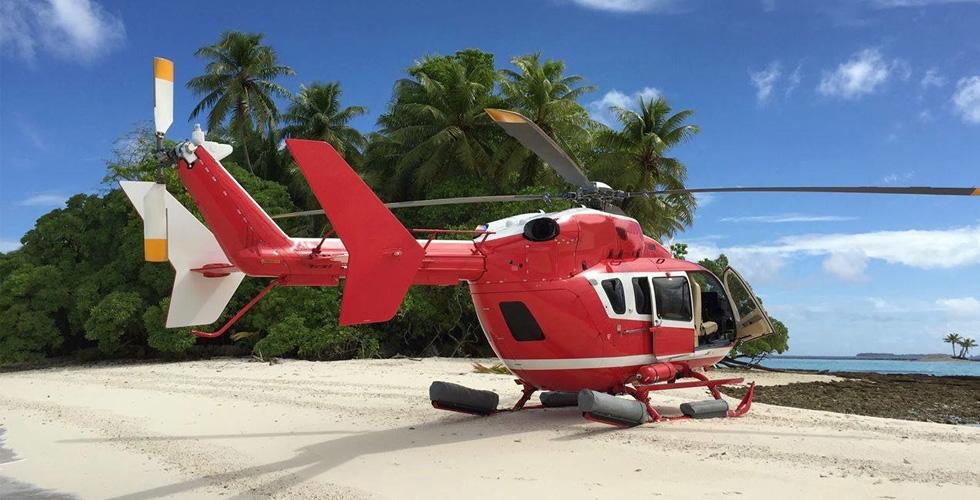 رحلة جوية مذهلة فوق الكاريبي