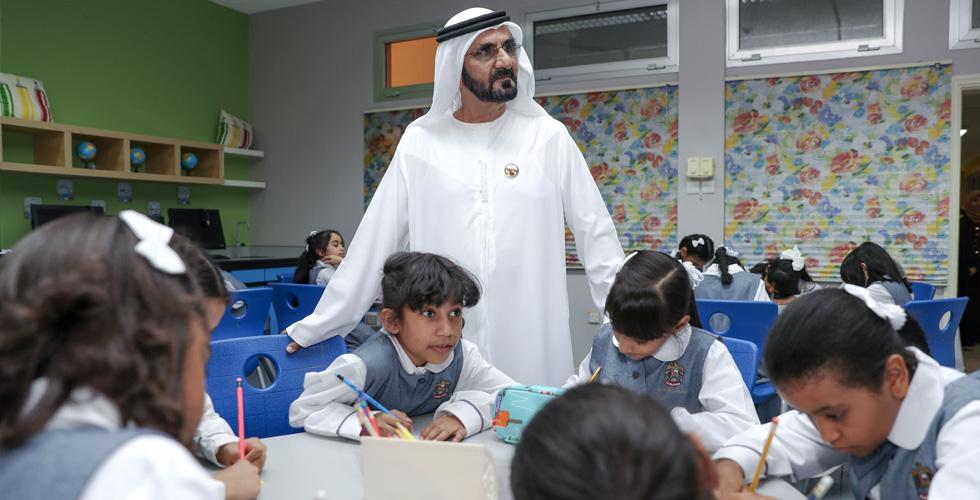 حاكم دبي يعود الى مدارس الإمارة