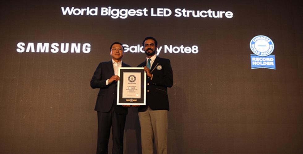 سامسونج تصمّم أكبر هيكل LED في العالم