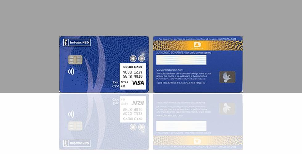 بطاقة سبّاقة من بنك الإمارات دبي الوطني وديناميكس إنك