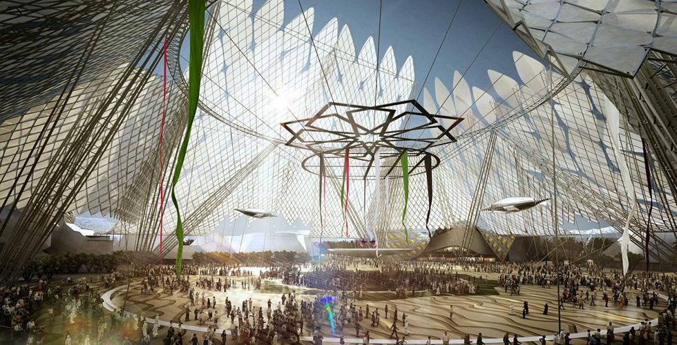 تَقَدُّم البناء في موقع إكسبو ٢٠٢٠ دبي