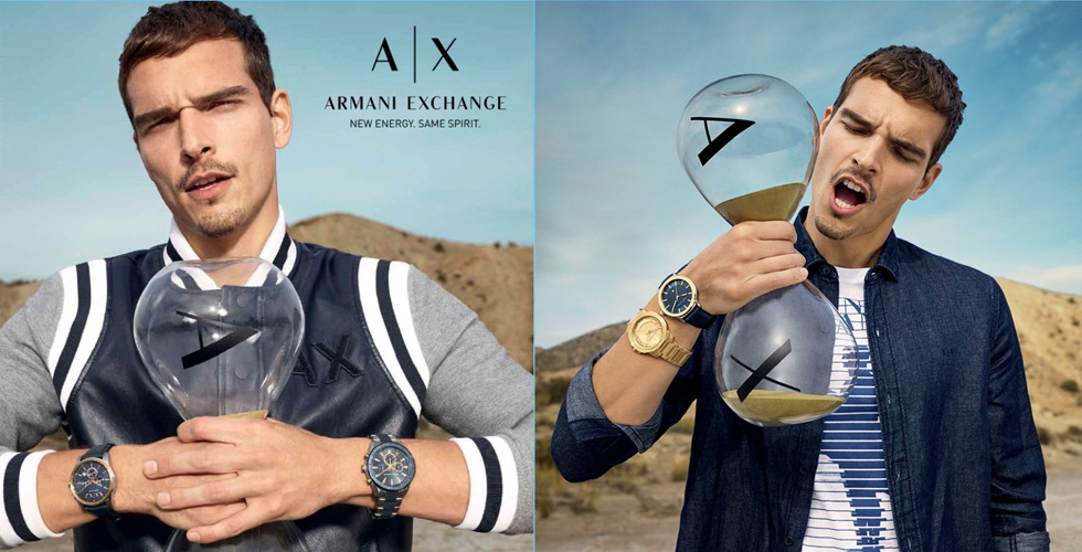 حملةٌ خاصةٌ بالساعات من Armani Exchange