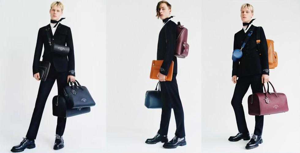 حقائب جلدية فاخرة من Dior Homme