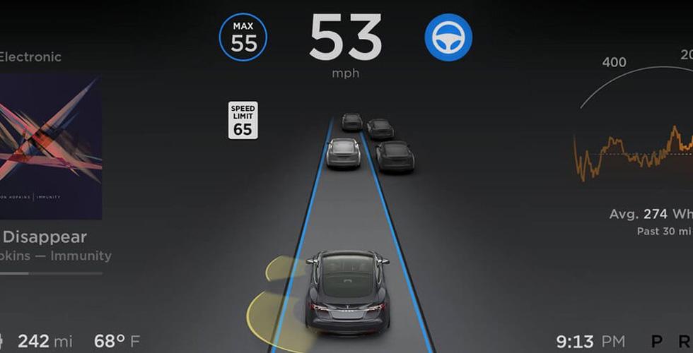 مزايا القيادة المستقلّة الكاملة في تحديث Tesla