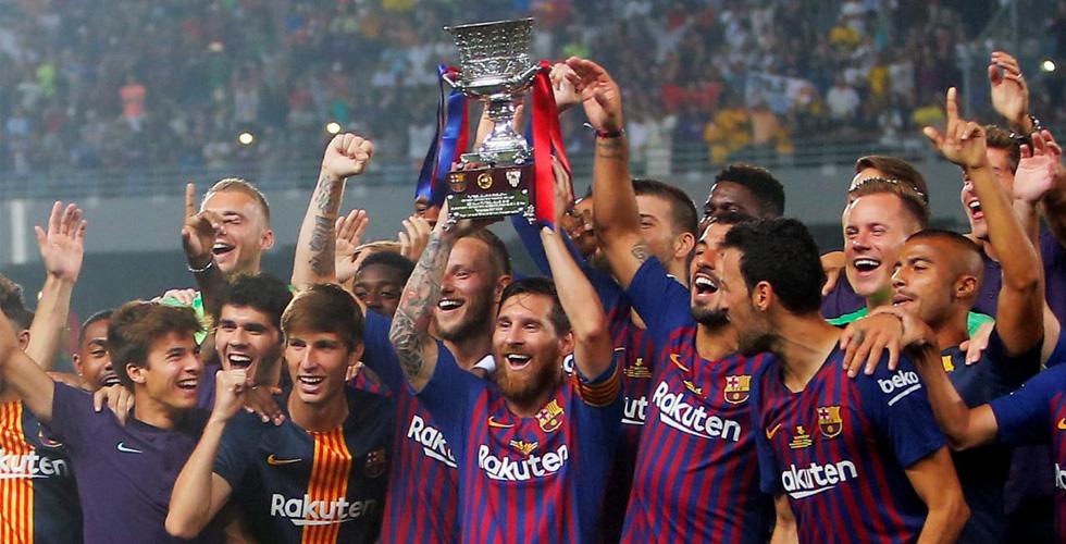 برشلونة بطل كأس السوبر الإسبانية