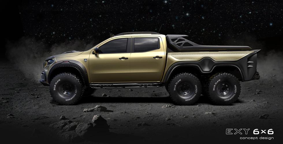 Pickup Design  ستطلق شاحنة شبيهة بـ6×6 من مرسيدس