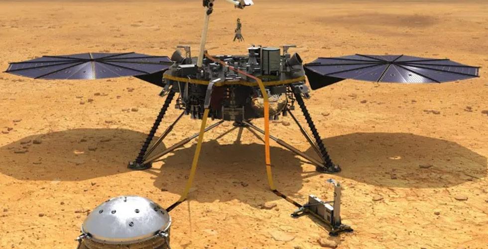 المشاهد الأولى للمسبار إنسايت على المريخ
