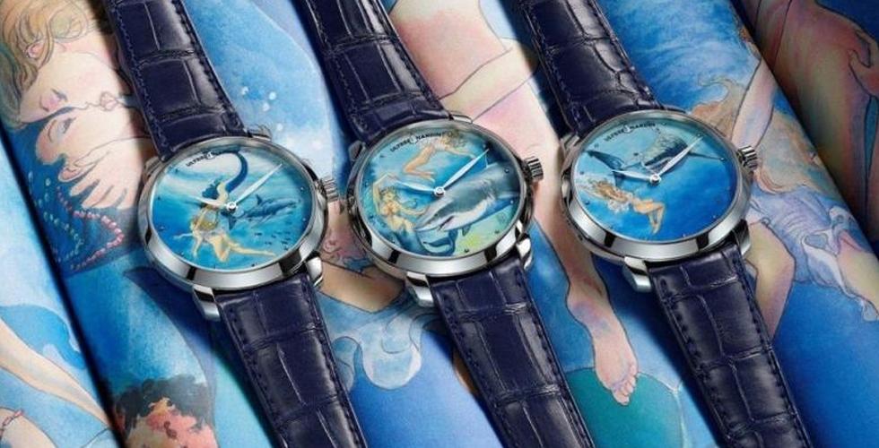 ساعات وحوريّات في تصميم مُختلف
