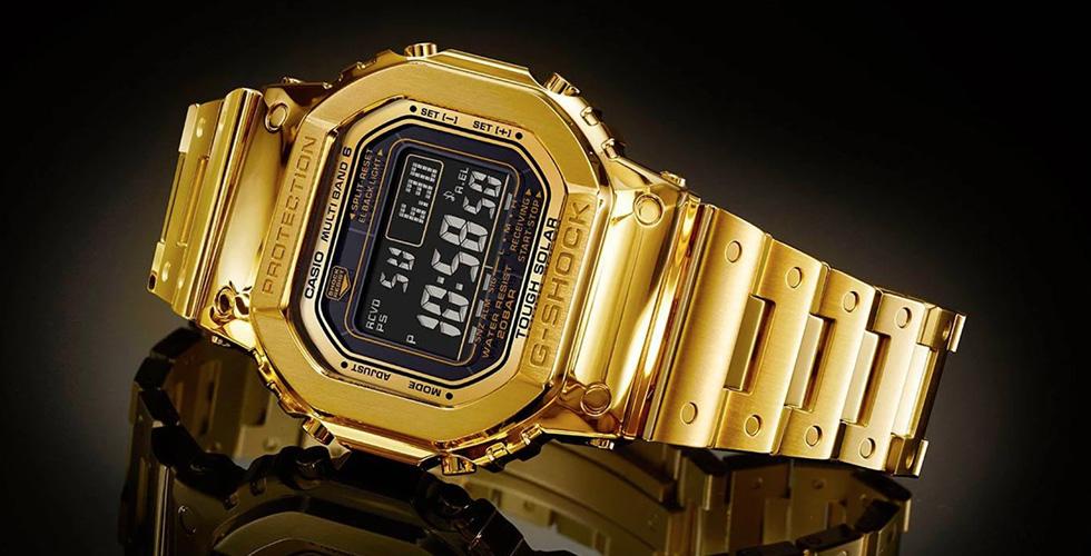 ساعة G-SHOCK الذّهبيّة باهظة الثّمن