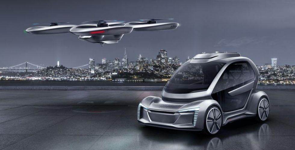 سيّارة مستقلّة تجتمع بطائرة مع Audi