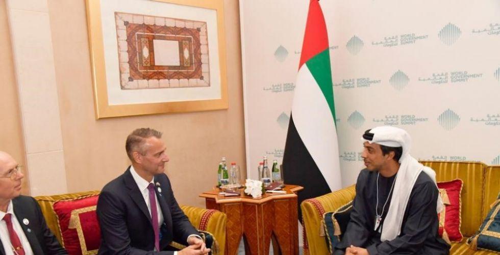 منصور بن زايد يلتقي نائب رئيس الوزراء السلوفاكي