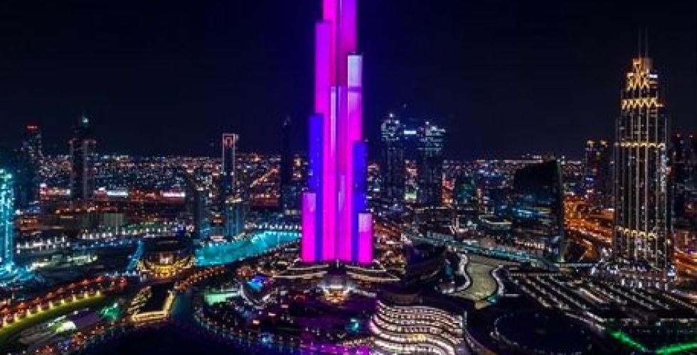 المنافسة الضوئية في برج خليفة