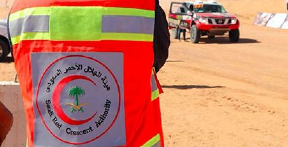 الهلال الأحمر السعودي في حائل  مشاركا في الرالي على طريقته
