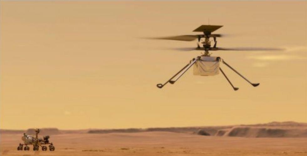 رايت فلاير تسبح في المريخ