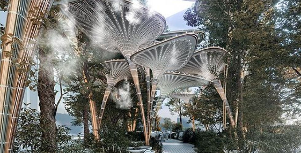 النخيل الاصطناعي كمتنفس رائع في أبو ظبي