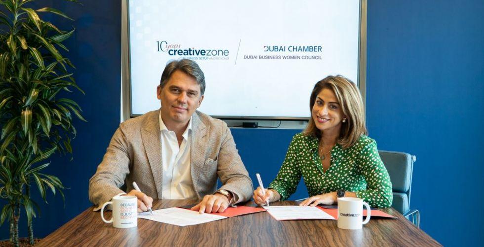 شراكة بين مجلس سيدات أعمال دبي وكرييتيف زون لإطلاق برنامج