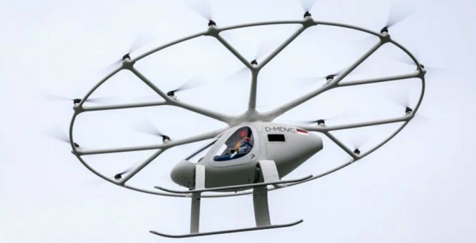 طائرة التاكسي VOLOCOPTER 2Xلمزير من الاختبار
