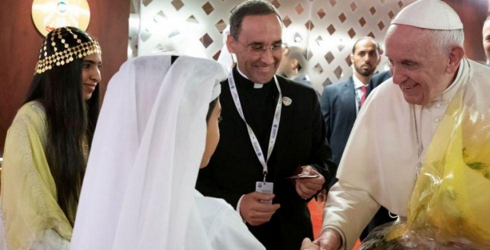 قداسة البابا في القمة الروحية في أبوظبي