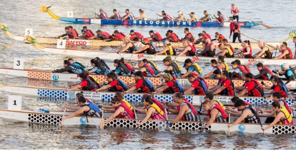 مهرجان قوارب التنين السنوي يحط رحاله في رأس الخيمة
