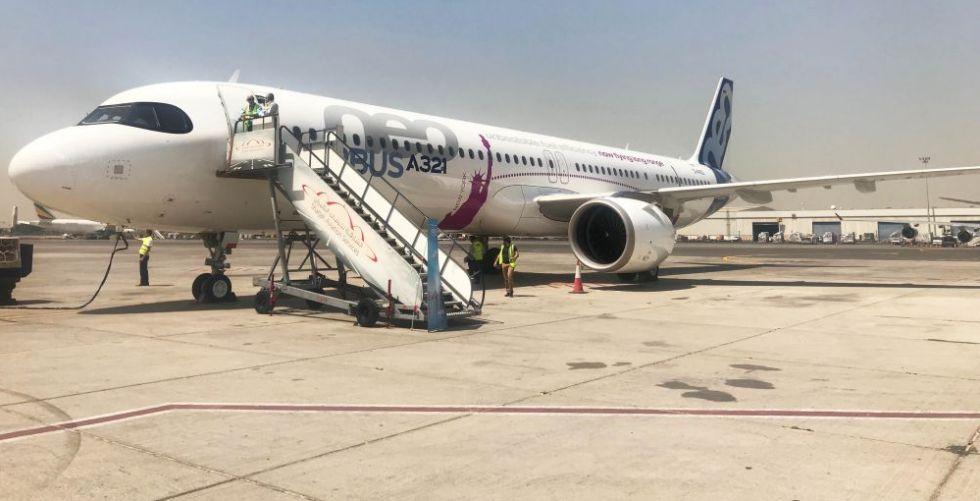 طائرات إيرباص في اختباراتها الحارة من مطار الشارقة