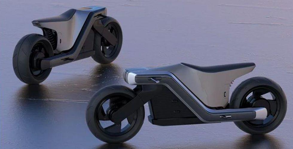 الدراجة الكهربائية بتصميم فريد