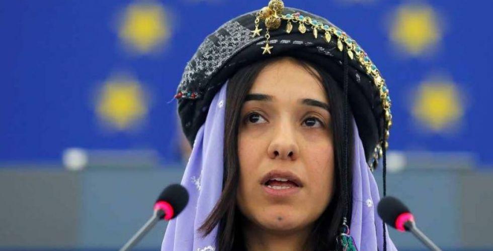 نوبل للسلام تهديها نادية مراد لليزيديين والعراقيين