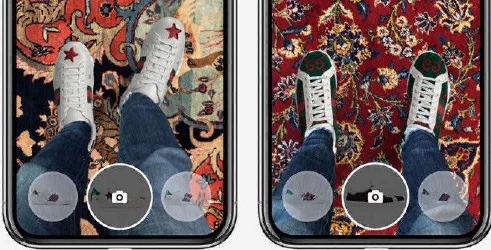 موقع إلكتروني لتجربة أحذية غوتشي