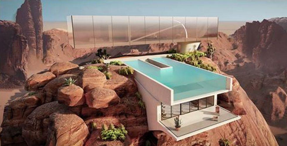 واحة البيت في صحراء السعودية