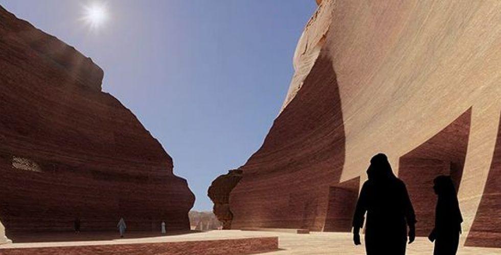 مشروع سياحي رائد في الصخور السعودية