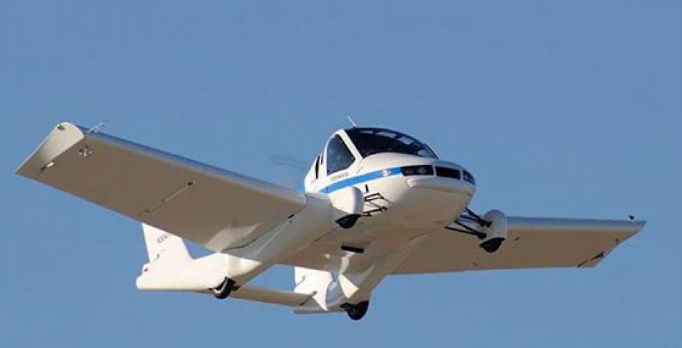 السيّارة الطائرة بأجنحة قابلة للطي