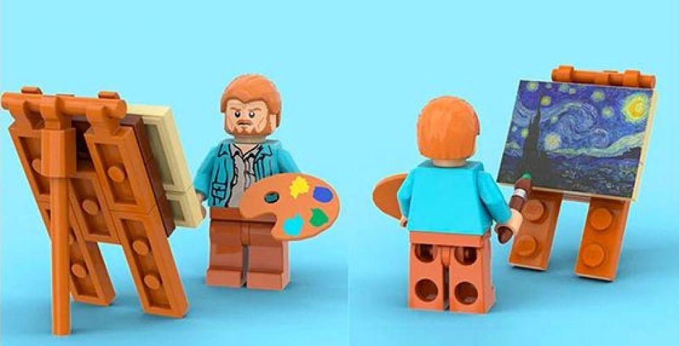 LEGO لرسومات فان غوغ