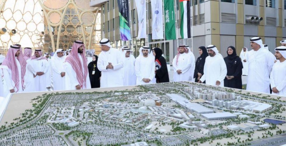 حمدان بن محمد ومحمد بن سلمان يزوران موقع أكسبو 2020 دبي