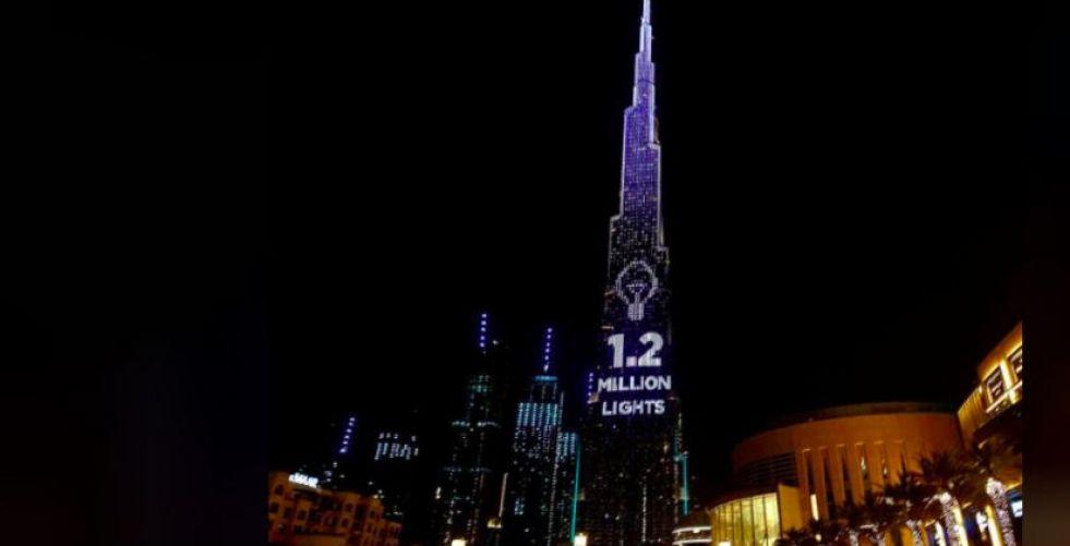 برج خليفة في دبي منصة للتبرعات