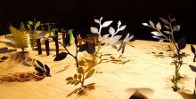 نبات يختفي على طاولة Perrier-Jouët