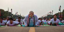 رئيس وزراء الهند يقود احتفالية رياضة اليوجا